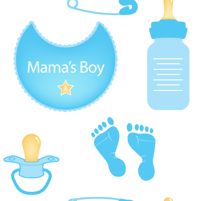 Baby Boy Seamless Pattern Background Labs