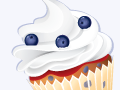 Blueberries Cupcake Pattern