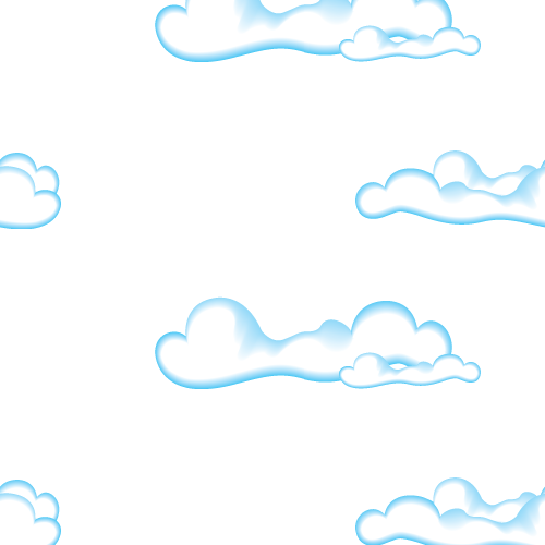 Cute Clouds Seamless Pattern
