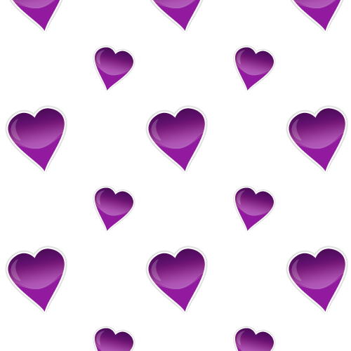 Glossy hearts purple