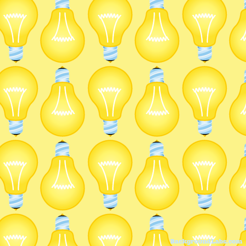 Light Bulbs Seamless Pattern