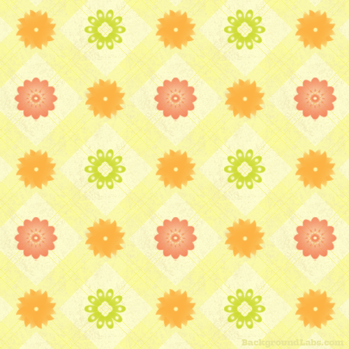 Plaid Floral Pattern