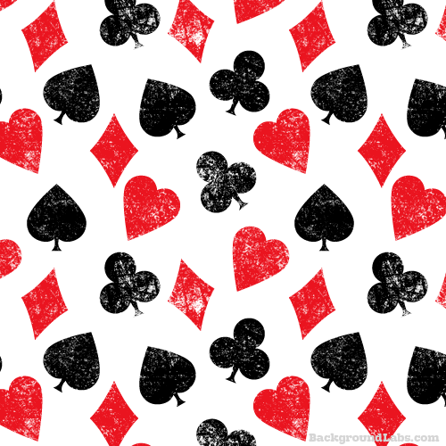 Playing Cards Symbols Pattern