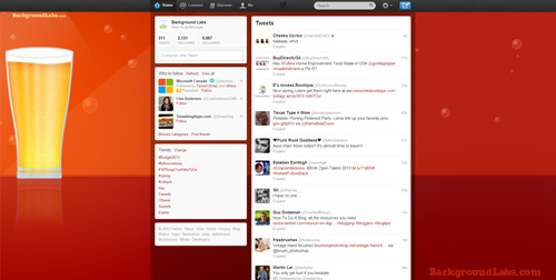 Beer Twitter Background