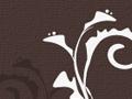 Chocolate Brown Floral Pattern