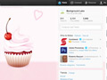 Cupcake Twitter Background