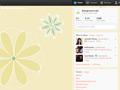 Floral Doodles Twitter Background