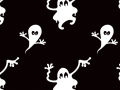 Ghosts Seamless Pattern