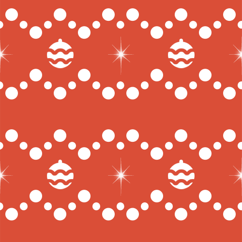 Retro Christmas Balls Pattern