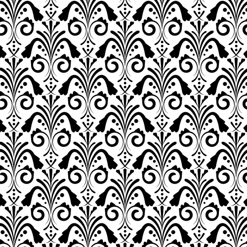 Damask Pattern White Background