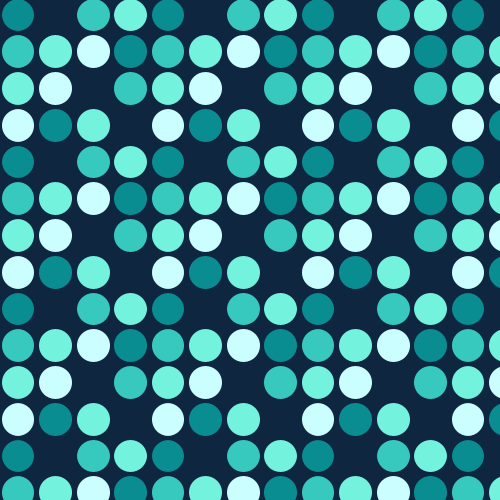 Turquoise Polka Dots Pattern