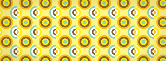 Retro Circles Facebook Cover
