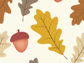 Oak Leaves And Acorns Pattern