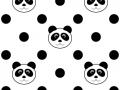 Panda Polka Dot