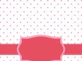 Pink Polka Dot With Frame